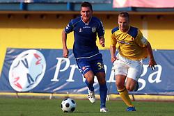 Andraz Kirm  (30) of Domzale vs Ales Mertelj (7) of Koper at 7th Round of PrvaLiga Telekom Slovenije between FC Koper vs NK Domzale, on August, 2008, in SRC Bonifika, in Koper, Slovenia. (Photo by Vid Ponikvar / Sportal Images)
