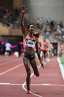 Genzebe Dbaba of Ethiopia competes in 1500m Women during the International Athletics Meeting Herculis, IAAF Diamond League, Monaco on July 17, 2015 at Louis II  stadium in Monaco, France - Photo Jean-Marie Hervio / KMSP / DPPI