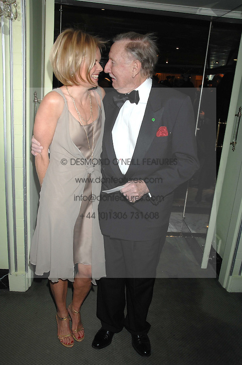 LESLIE PHILLIPS and MARIELLA FROSTRUP attending the 27th Awards of the London Film Critics' Circle 2007 in aid of the NSPCC held at The Dorchester, Park Lane, London on 8th February 2007.<br />