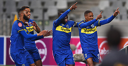 Cape Town-180804 Cape Town City players celebrate Craig Martins goal against Supersport in the first game of the 2018/2019 season at Cape Town Stadium.photograph:Phando Jikelo/African News Agency/ANA