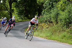 Doris Schweizer (Cylance Pro Cycling) leads a group with 15km to go at the 141 km road race of the UCI Women's World Tour's 2016 Crescent Vårgårda women's road cycling race on August 21, 2016 in Vårgårda, Sweden. (Photo by Sean Robinson/Velofocus)
