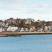 Panorama of Gloucester harbor on Cape Ann.