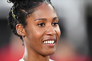 Ajee Wilson (USA) poses after winning the women's 800m during the Bauhaus-Galan in a IAAF Diamond League meet at Stockholm Stadium in Stockholm, Sweden on Thursday, May 30, 2019. (Jiro Mochizuki/Image of Sport)