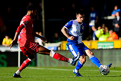 Michael Kelly of Bristol Rovers is marked by Alan Dunne of Bromley - Mandatory by-line: Ryan Hiscott/JMP - 10/11/2019 - FOOTBALL - Memorial Stadium - Bristol, England - Bristol Rovers v Bromley - Emirates FA Cup first round