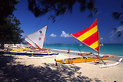 Outrigger Canoe, Kailua Beach, Oahu, Hawaii<br />