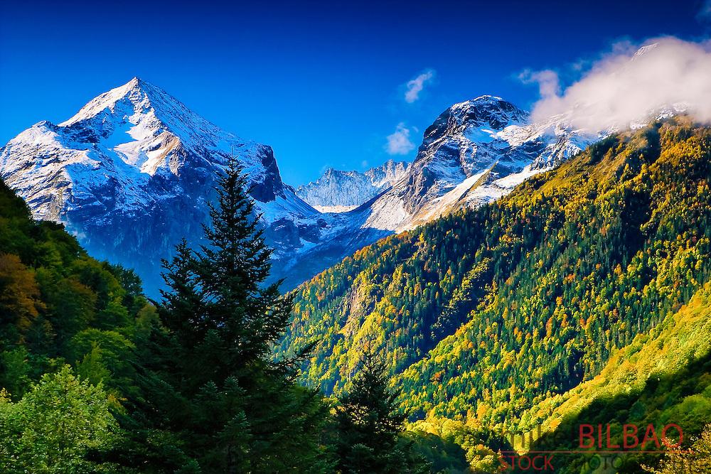 Mountains in Aran Valley. Catalonian, Spain, Europe.