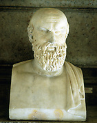 Aeschylus (c525-c456 BC) Ancient Greek tragedian. Father of Greek tragedy. Portrait bust