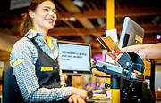 Technologie van Simac Retail solutions in Jumbo supermarkt.