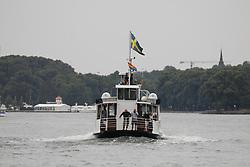 Offizielle und private Institutionen bekennen sich durch zeigen der Regenbogen-Fahne zur Pride-Week in Stockholm.<br /> <br /> Ort: Stockholm<br /> Copyright: Andreas Conradt<br /> Quelle: PubliXviewinG