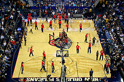 25 January 2015. New Orleans, Louisiana.<br /> The New Orleans Pelicans home stadium, the Smoothie King Center.<br /> Photo; Charlie Varley/varleypix.com