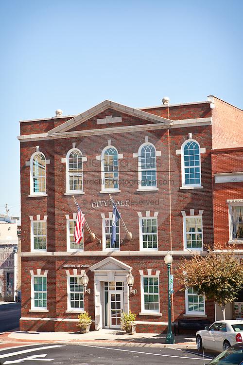 Historic city hall in Laurens, South Carolina.