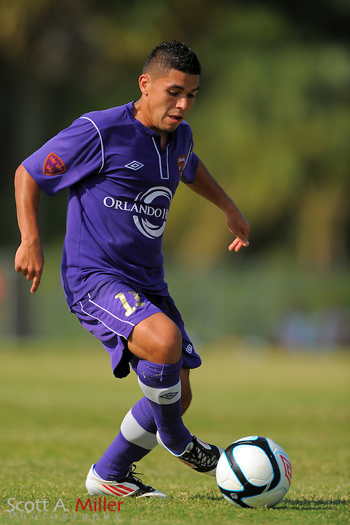 Orlando City U23s forward Jonathan Mendoza (11) in action during Orlando's game against the Ocala Stampede at the Seminole Soccer Complex Saturday on May 26, 2012 in Sanford, Fla. ...©2012 Scott A. Miller..