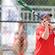 James Meehling takes a swing Saturday September 13, 2014 during the opening weekend of The Miracle League. (Jason A. Frizzelle)