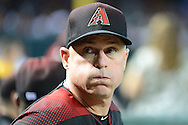 PHOENIX, AZ - SEPTEMBER 17:  Chip Hale #3 of the Arizona Diamondbacks looks up into the stands prior to the game against the Los Angeles Dodgers at Chase Field on September 17, 2016 in Phoenix, Arizona. The Dodgers won 6 - 2.  (Photo by Jennifer Stewart/Getty Images)