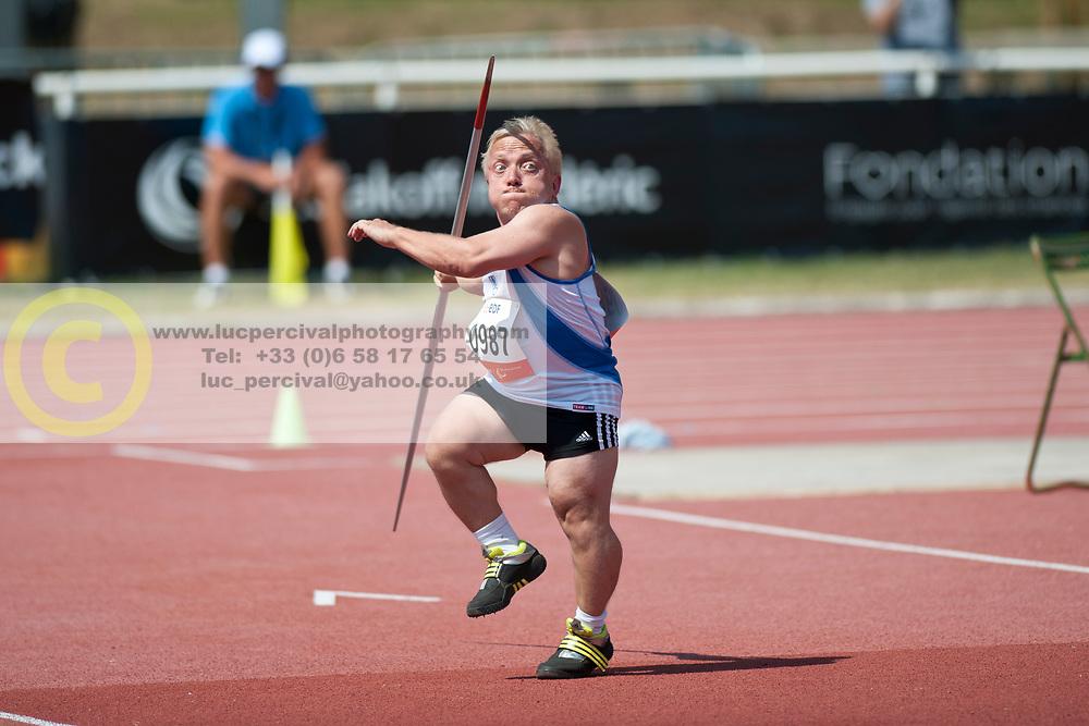 MARGOC Marek, SVK, Javelin, F41, 2013 IPC Athletics World Championships, Lyon, France