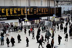 UK ENGLAND LONDON 25MAR14 - Pedestrians at Waterloo Station, London.<br /> <br /> jre/Photo by Jiri Rezac<br /> <br /> © Jiri Rezac 2014