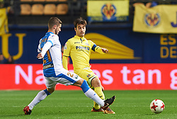 January 10, 2018 - Vila-Real, Castellon, Spain - Manuel Trigueros of Villarreal CF and Ruben Perez of Club Deportivo Leganes during the Spanish Copa del Rey, Round of 16, match between Villarreal CF and Club Deportivo Leganes at Estadio de la Ceramica on jenuary 10, 2018 in Vila-real, Spain. (Credit Image: © Maria Jose Segovia/NurPhoto via ZUMA Press)