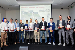 Best 11 players during SPINS XI Nogometna Gala 2017 event when presented best football players of Prva liga Telekom Slovenije in season 2016/17, on May 23, 2017 in Grand hotel Union, Ljubljana, Slovenia. Photo by Vid Ponikvar / Sportida