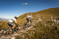 Christoph Sauser of Investec Songo Specialized and Nino Schurter of Scott SRAM MTB Racing during stage 1 of the 2017 Absa Cape Epic Mountain Bike stage race held from Hermanus High School in Hermanus, South Africa on the 20th March 2017<br /> <br /> Photo by Nick Muzik/Cape Epic/SPORTZPICS<br /> <br /> PLEASE ENSURE THE APPROPRIATE CREDIT IS GIVEN TO THE PHOTOGRAPHER AND SPORTZPICS ALONG WITH THE ABSA CAPE EPIC<br /> <br /> ace2016