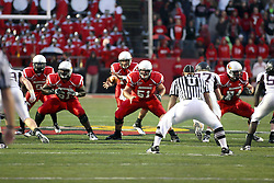 25 September 2010:  (l to R) Ashton Leggett (5), Keenan Wimbley (61) Matt Brown (13) Cal McCarthy (51) and Nick Bledsoe (74) are ready for the defense as brown receives the long snap.  The Missouri State Bears lost to the Illinois State Redbirds 44-41 in double overtime, meeting at Hancock Stadium on the campus of Illinois State University in Normal Illinois.