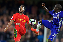 LONDON, ENGLAND - Friday, September 16, 2016: Liverpool's Daniel Sturridge in action against Chelsea's N'Golo Kante during the FA Premier League match at Stamford Bridge. (Pic by David Rawcliffe/Propaganda)