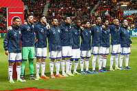 Israel's team photo with Ofir Marciano, Eli Dasa, Rami Gershon, Bribas Natcho, Eran Zahavi, Almog Cohen, Lior Refaelov, Tal Ben Chaim, Daniel Einbinder, Shir Tzedek and Eytan Tibi during FIFA World Cup 2018 Qualifying Round match. March 24,2017.(ALTERPHOTOS/Acero)