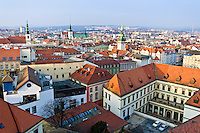 View of the historic center in Brno the Czech Republic.