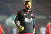 Ben Foster during the The FA Cup Third Round Replay match between Bristol City and West Bromwich Albion at Ashton Gate, Bristol, England on 19 January 2016. Photo by Daniel Youngs.