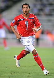 THEO WALCOTT.ENGLAND & ARSENAL FC.ANDORRA V ENGLAND.OLYMPIC STADIUM, BARCELONA, SPAIN.06 September 2008.DIV85315..  .WARNING! This Photograph May Only Be Used For Newspaper And/Or Magazine Editorial Purposes..May Not Be Used For, Internet/Online Usage Nor For Publications Involving 1 player, 1 Club Or 1 Competition,.Without Written Authorisation From Football DataCo Ltd..For Any Queries, Please Contact Football DataCo Ltd on +44 (0) 207 864 9121