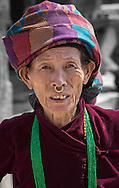 Woman with nose ring, Kathmandu.