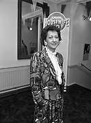 Calor Kosangas Housewife Of The Year. (S1)..1989..10.04.1989..04.10.1989..10th April 1989..Six housewives took part in the Calor/Kosangas Housewife of the Year final at the Olympia Theatre, Dublin tonight...Picture of Mrs Mary Dowling, Cork, who took part in the Calor/Kosangas ,Housewife of the Year, at the Olympia Theatre.