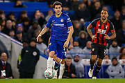 Chelsea midfielder Cesc Fabregas (4) on the ball during the quarter final of the EFL Cup match between Chelsea and Bournemouth at Stamford Bridge, London, England on 19 December 2018.