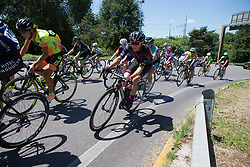Leah Thorvilson (USA) of CANYON//SRAM Racing rides near the rear of the peloton during Stage 4 of the Giro Rosa - a 118 km road race, starting and finishing in Occhiobello on July 3, 2017, in Rovigo, Italy. (Photo by Balint Hamvas/Velofocus.com)