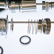 The breakdown of a Chris King rear hub assembly.