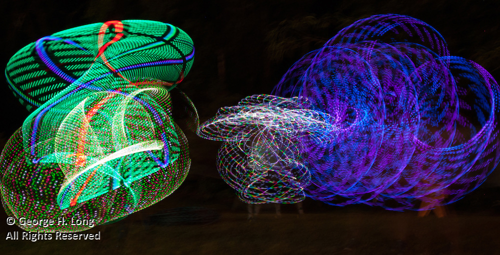 lighted hula hoops at AquaFest in Abita Springs Park on May 7, 2016