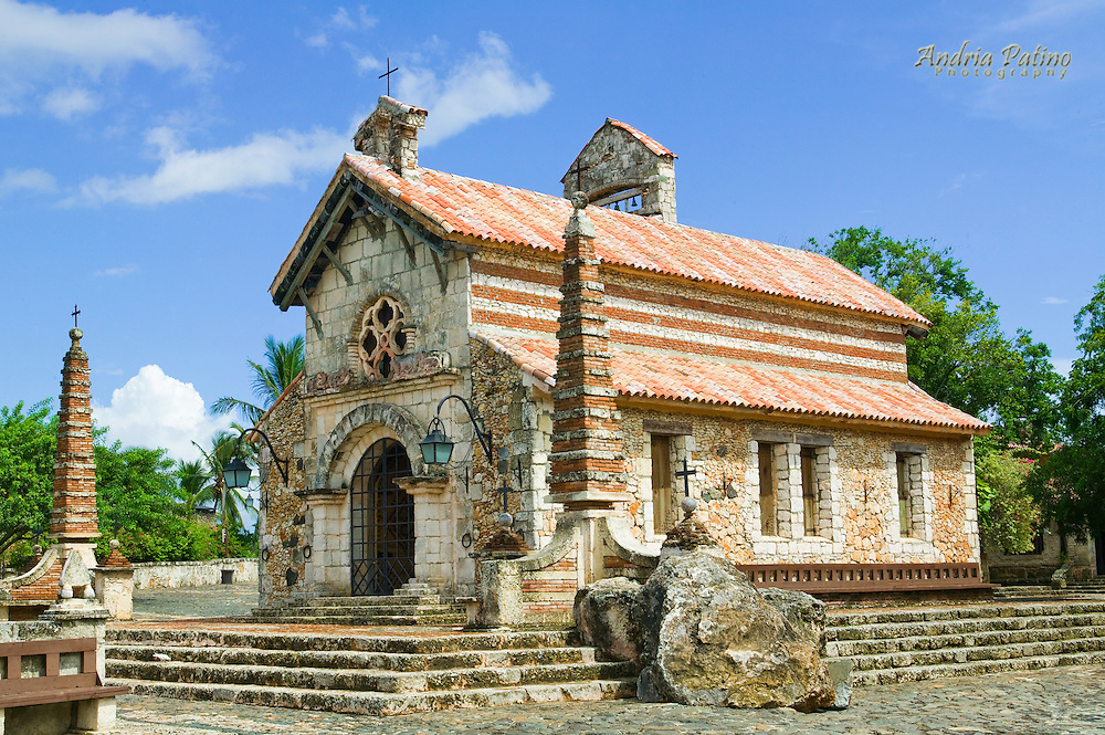 Stone Church in Altos De Chavon, La Romana