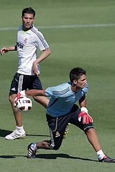 16.07.2010, Real Madrid Soccer City, Madrid, ESP, Real Madrid Training, im Bild Adan and Garay, EXPA Pictures © 2010, PhotoCredit: EXPA/ Alterphotos/ ALFAQUI/ Cesar Cebolla / SPORTIDA PHOTO AGENCY