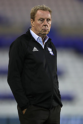 """Birmingham City manager Harry Redknapp during the Carabao Cup, Second Round match at St Andrew's, Birmingham. PRESS ASSOCIATION Photo. Picture date: Tuesday August 22, 2017. See PA story SOCCER Birmingham. Photo credit should read: David Davies/PA Wire. RESTRICTIONS: EDITORIAL USE ONLY No use with unauthorised audio, video, data, fixture lists, club/league logos or """"live"""" services. Online in-match use limited to 75 images, no video emulation. No use in betting, games or single club/league/player publications."""