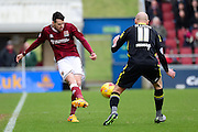 Northampton Town Defender Brendan Maloneyduring the Sky Bet League 2 match between Northampton Town and Morecambe at Sixfields Stadium, Northampton, England on 23 January 2016. Photo by Dennis Goodwin.