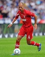 17. September 2011: Berlin, Olympiastadion: Fussball 1. Bundesliga, 6. Spieltag: Hertha BSC - FC Augsburg: Augsburgs Dominik Reinhardt am Ball.