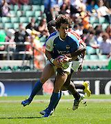 Twickenham. Great Britain, Action from the Argentina vs Kenya.  ARG No 10 Joaquin DIAZ BONILLA, during the 2012 Marriott London Sevens Rugby played at the RFU Stadium, England on Saturday  {DATE{  [Mandatory Credit. Peter Spurrier/Intersport Images]