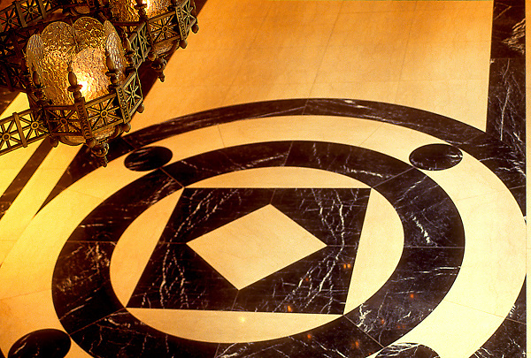 Architectural Detail of Marble Floor Design