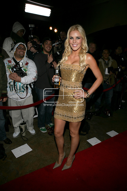 9th February 2009, Beverly Hills, California. Model Jamie Wright, at Bondi Blonde's Style Mansion International Party, which was hosted by singer Katy Perry. PHOTO © JOHN CHAPPLE / REBEL IMAGES.tel: +1-310-570-910
