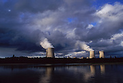 Nuclear energy plants on the Loire River.