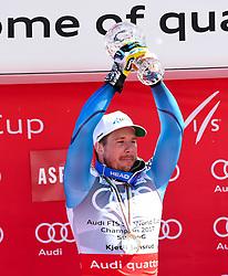 16.03.2017, Aspen, USA, FIS Weltcup Ski Alpin, Finale 2017, SuperG, Herren, Siegerehrung, im Bild Kjetil Jansrud (NOR, Gewinner des Super G Weltcups) // winner of the Super G Overal Kjetil Jansrud of Norway during the winner award ceremony for the men's Super-G of 2017 FIS ski alpine world cup finals. Aspen, United Staates on 2017/03/16. EXPA Pictures © 2017, PhotoCredit: EXPA/ Erich Spiess