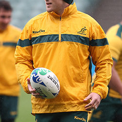Stephen Moore during the Team training - Australia,Wednesday 12 October 2011 Australia training session. North Harbour Stadium Stadium Drive Albany, Auckland.<br />  Photographer Steve Haag