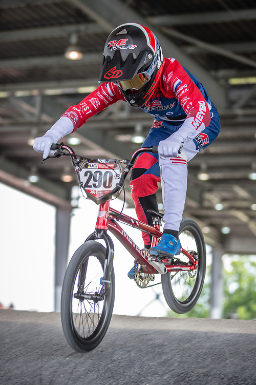 #290 (VAN DOREN Stef) NED at Round 6 of the 2019 UCI BMX Supercross World Cup in Saint-Quentin-En-Yvelines, France