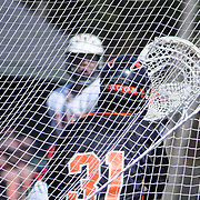 4/21/11 -- TOPSHAM, Maine. Mt. Ararat played well for the first game of the season -  holding possession and playing a lot of offense through much of the game -- but with superior stick skills and explosive offense Brunswick dominated the scoreboard. Final score was 12-4. Photo by Roger S. Duncan.