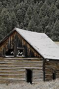 Buildings, Ghost Town, Winter, Gilmore, Idaho