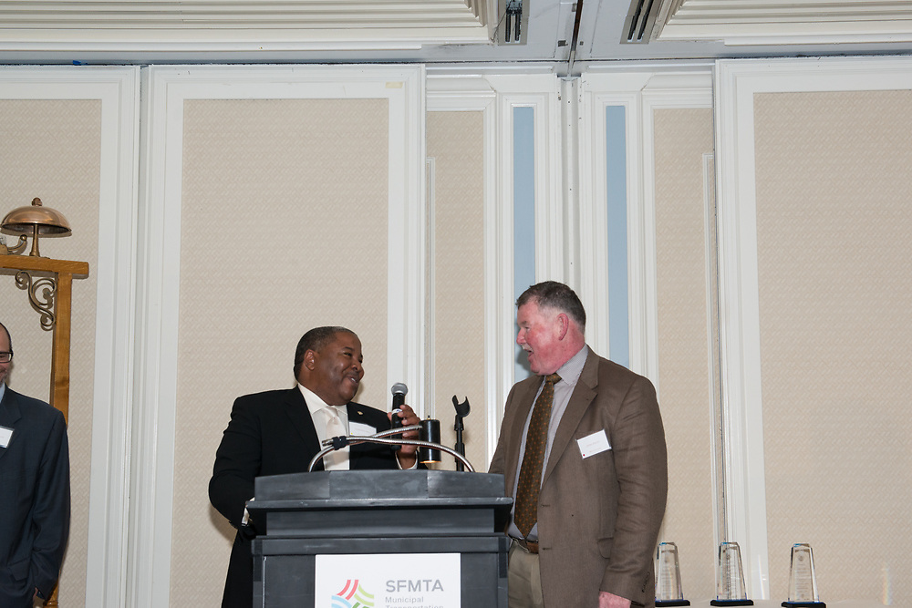 Terrence Hall and Joh Haley Presenting 30-34 Year Awards at Safe Driver Awards Dinner   November 14, 2014